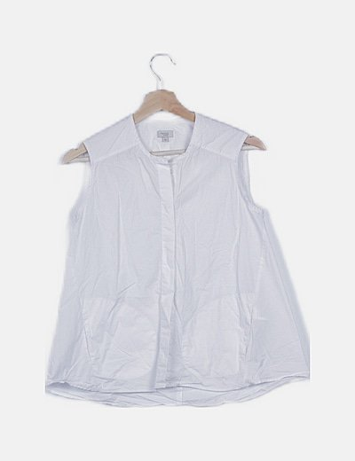 Camisa blanca beige