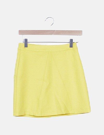 Falda tubo amarilla