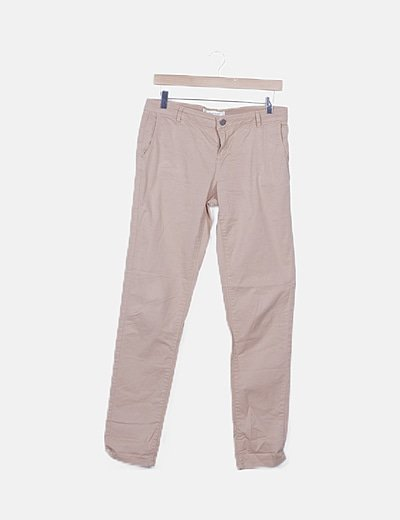 Pantalón chino beige