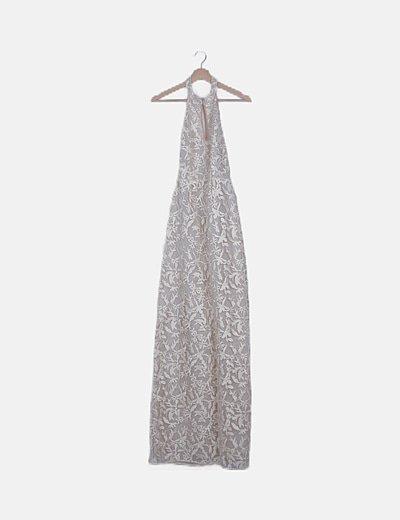 Vestido marfil bordado