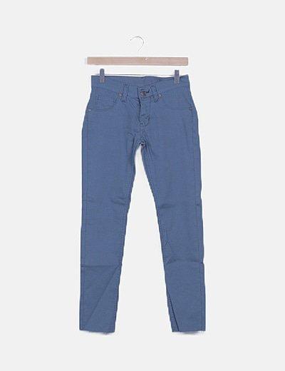 Jeans skinny azul petróleo