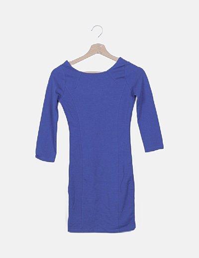 Vestido mini azul eléctrico