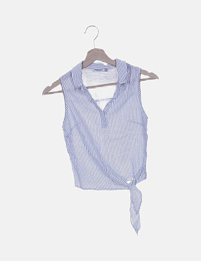 Blusa rayas bicolor detalle lazada