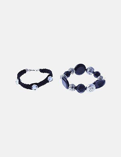 Pack pulseras negras