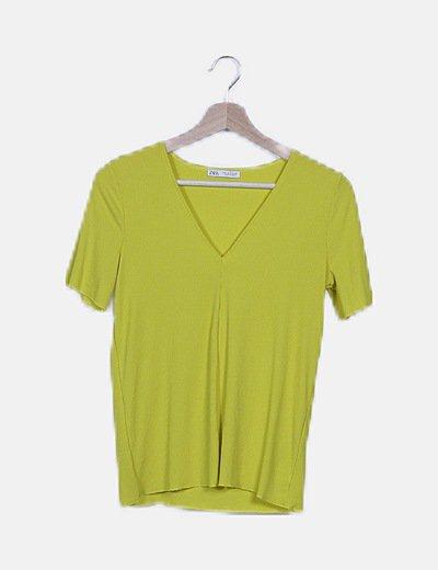 Blusa amarillo canalé