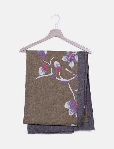 Foulard mostaza soft hand estampado floral