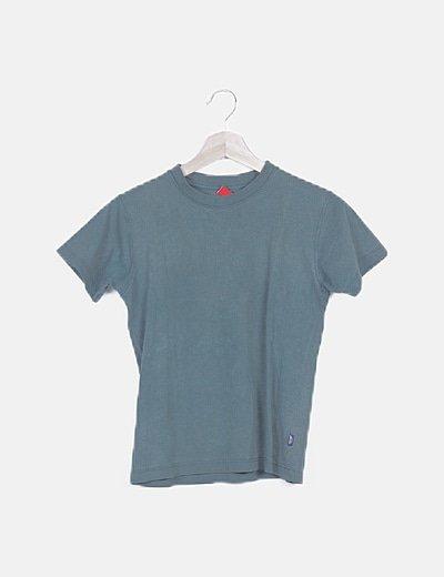 Camiseta verde manga corta