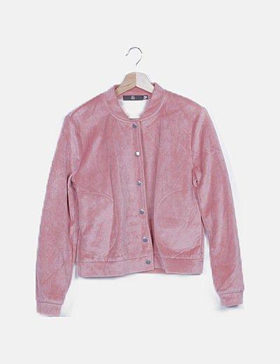 Bomber terciopelo rosa