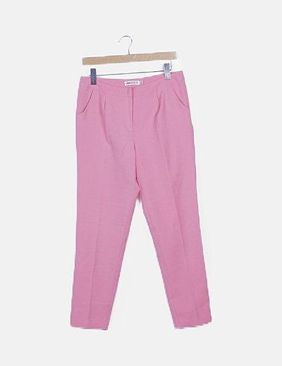 Pantalón rosa chicle de pinzas