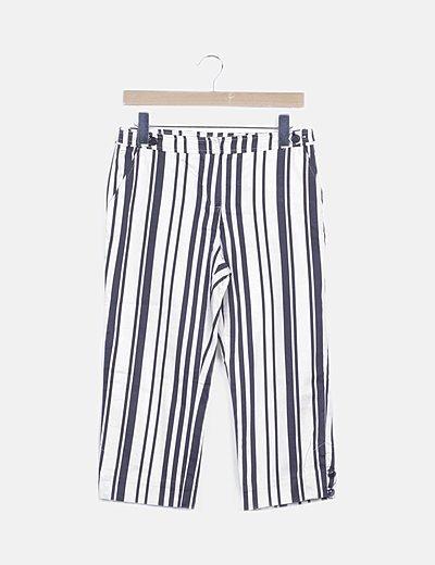 Pantalón pirata rayas bicolor