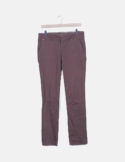 Jeans recto marrón