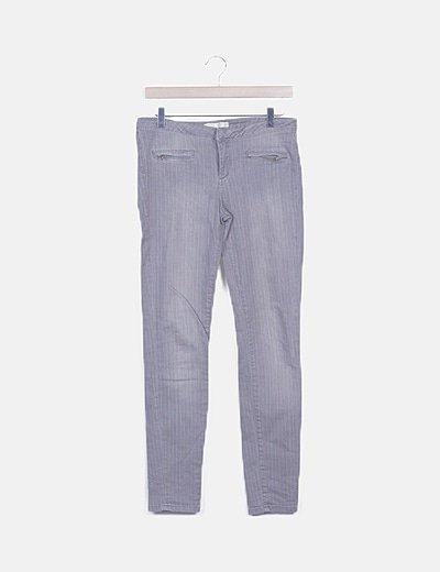 Jeans skinny gris raya diplomática
