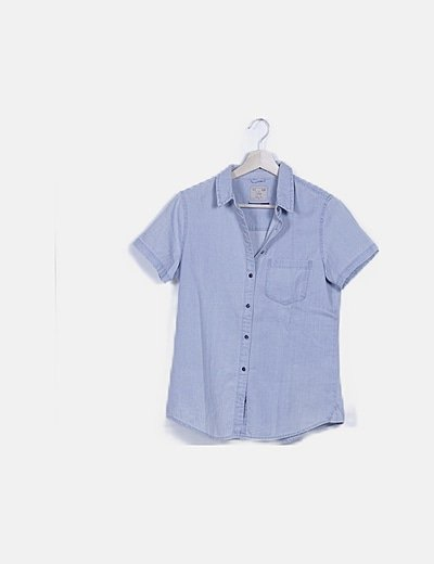Camisa denim manga corta