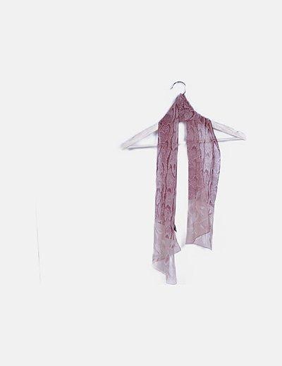 Foulard rosa animal print