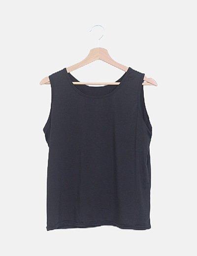 Camiseta básica irisada negra