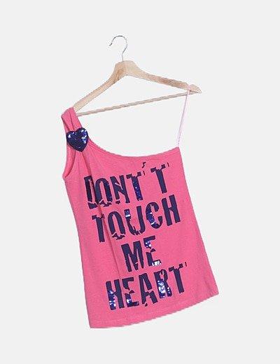 Camiseta rosa mensaje