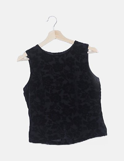Camiseta negra print velvet