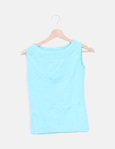 Camiseta turquesa basic