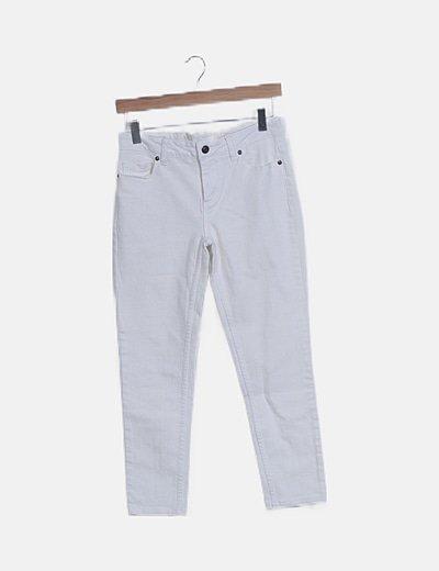 Jeans denim blanco pitillo