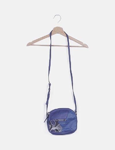 Bolso mini azul combinado