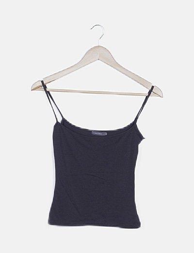 Camiseta negra de tirantes