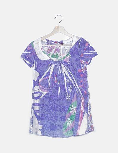 Camiseta estampado multicolor