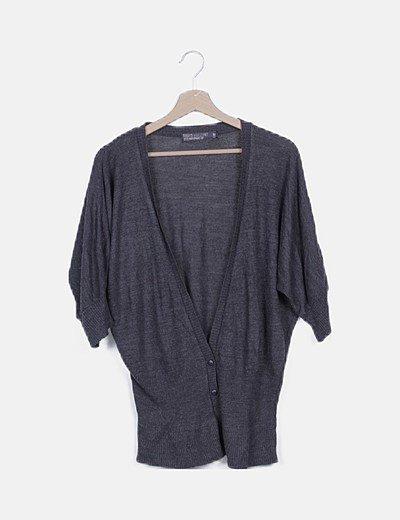 Chaqueta tricot gris marengo