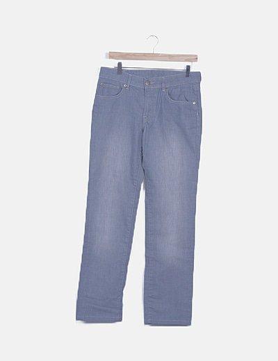 Pantalón denim gris jaspeado