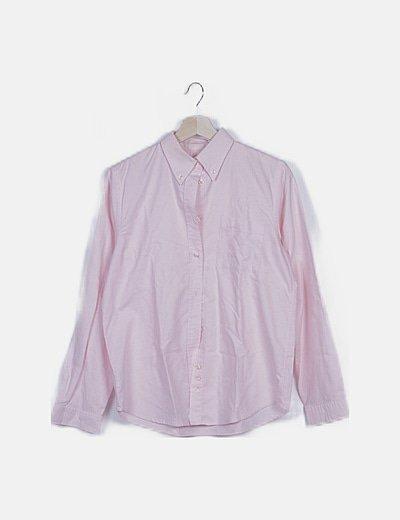 Camisa rosa con bolsillo