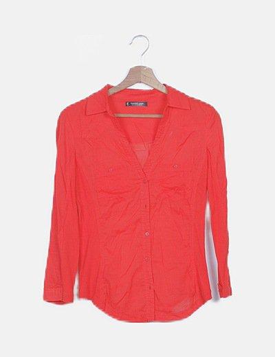 Camisa roja combinada