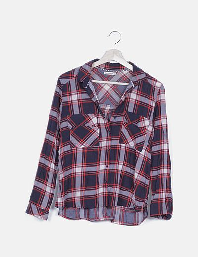 Camisa de cuadros tricolor