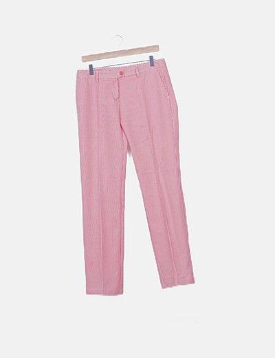 Pantalón chino rayas bicolor
