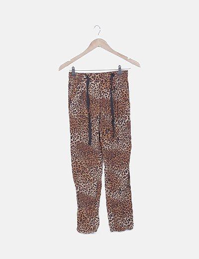 Pantalón fluido animal print