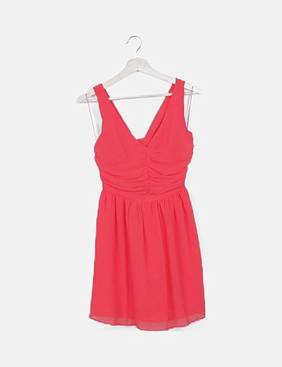 Vestido rojo tirante cruzado