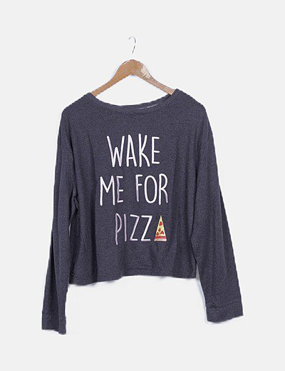 Jersey gris marengo print pizza