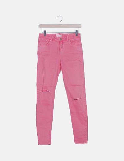 Jeans rosa ripped