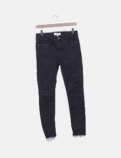 Jeans negro ripped