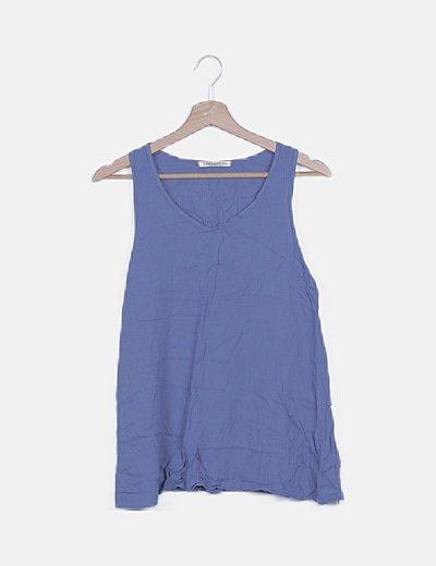 Blusa azul de tirantes