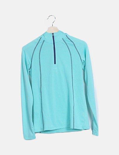 Jersey azul turquesa deportivo
