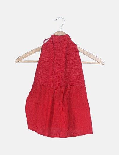 Blusa combinada roja