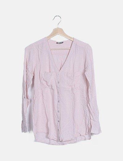 Blusa rosa palo manga larga