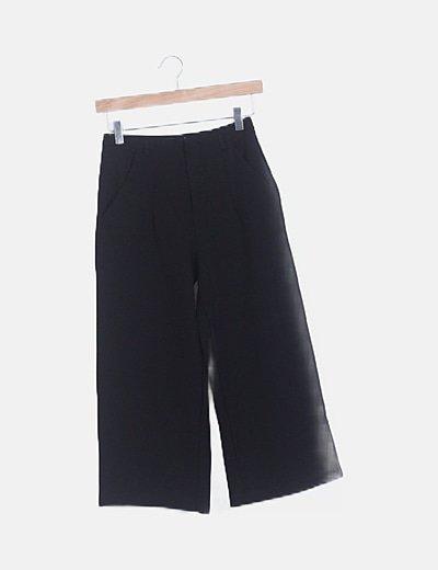 Pantalón pirata fluido negro