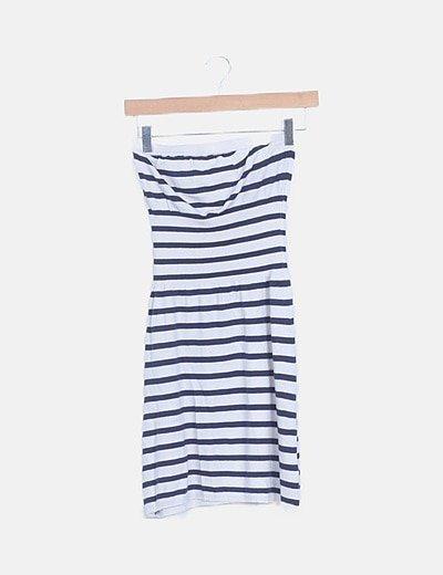 Vestido tricot navy