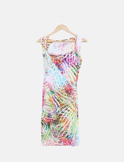 Vestido multicolor midi