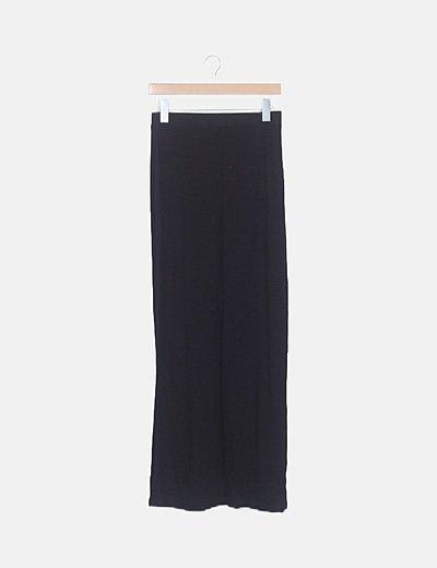 Falda negra maxi