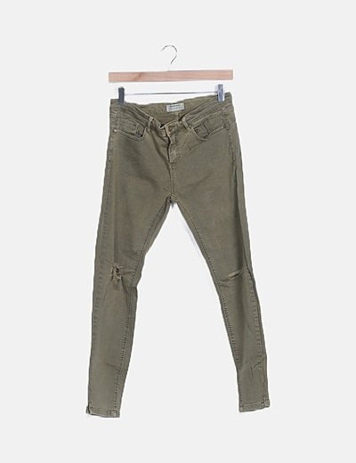Jeans verde ripped