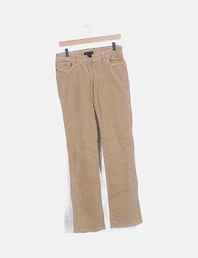 Pantalón beige pana bolsillos