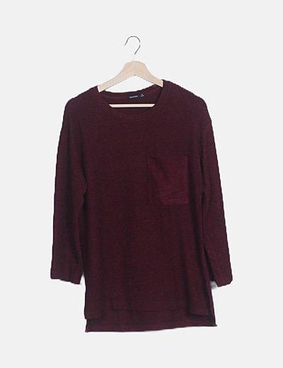 Suéter granate manga larga