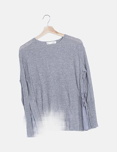 Jersey tricot gris combinado