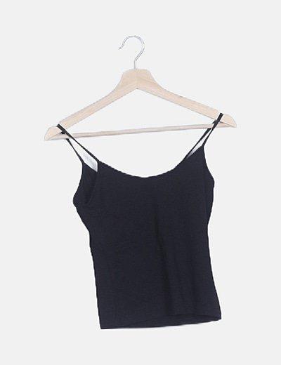 Camiseta tirante negra